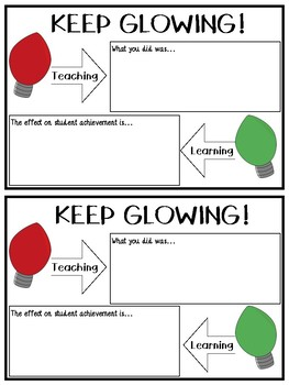 Keep Glowing: Feedback Forms for Teacher Recognition and Encouragement