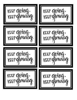 Keep Going, Keep Growing