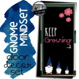 Keep Growing June Door Gnome Growth Mindset Bulletin Board Summer