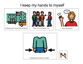 Keep Hands to Self - Autism VISUAL