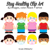 Keep Healthy Clipart, Sanitizer, Face Masks, Soap, Clean H
