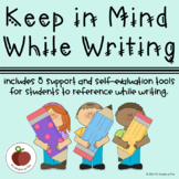 Keep In Mind While Writing- Student Support - Self-Evaluation - Differentiation
