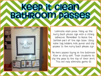 Keep It Clean Bathroom Passes