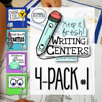 Writing Centers: Keep It Fresh! {4-Pack #1}
