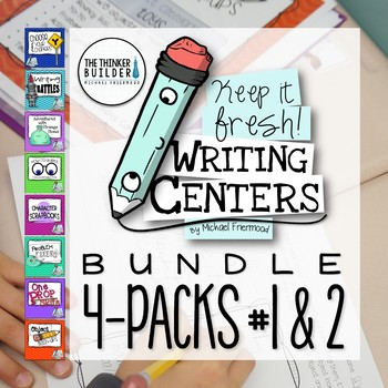 Writing Centers BUNDLE: Keep It Fresh! {Pack #1 and Pack #2}