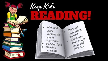Keep Kids Reading-Flexible book report pack
