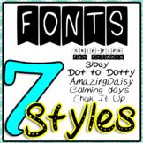Keep On Teaching Fonts (Banner, Chalk , Dot, Handwritten Fonts)