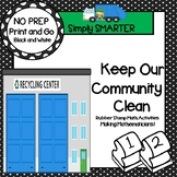 NO PREP Community Themed Math Stamping Activities