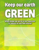 Keep Our Earth Green Recycling Poster
