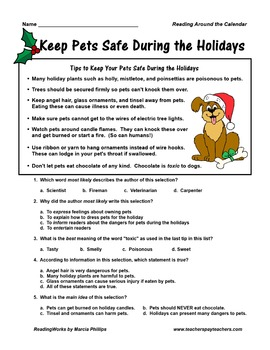~FREE~Keep Pets Safe During the Holiday