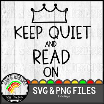 Keep Quiet and Read On SVG Image