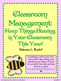 Back to School Classroom Management (Bee Theme)
