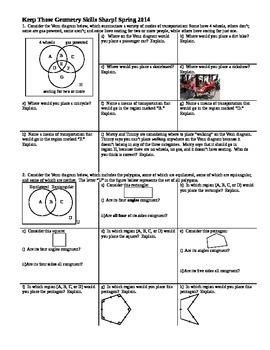 Keep Those Geometry Skills Sharp Spring 2014