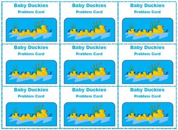 Keep Up Baby Duckies!  A Subtraction Matching Game