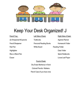 Keep Your Desk Organized Poster