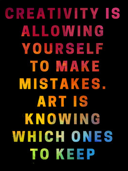 Keep Your Mistakes Rainbow Poster