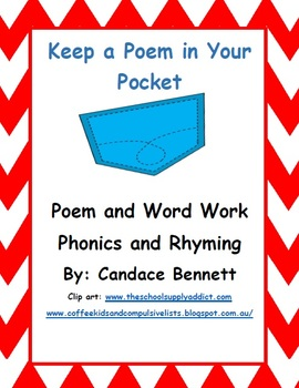 Keep a Poem in Your Pocket - Poem and Word Work