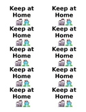 Keep at Home - Homework Folder Labels