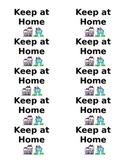Keep at Home - Homework Folder Labels