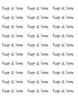 Keep at Home Labels for Communication Folder