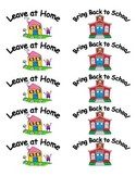 Keep at Home and Bring Back to School Labels