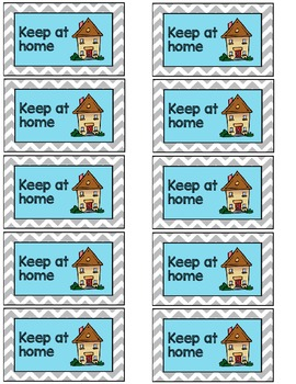 Keep at home labels