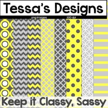 Keep it Classy Sassy {Digital Paper Pack}