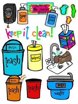 keep it clean clip art for personal or commercial use by the libraryfox rh teacherspayteachers com open clipart commercial use commercial clipart for teachers