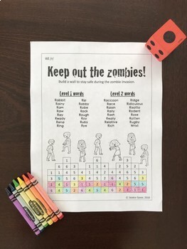 Keep out the Zombies! Word-Initial /r/ Freebie