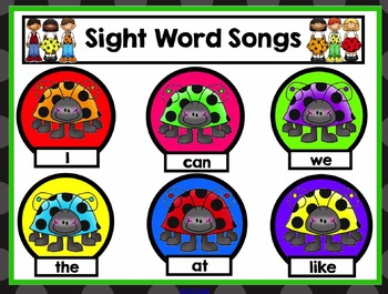 Keep the Beat! Sight Word Edition - A Snazzy Smartboard Template To Add Songs To