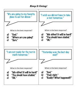 Keep the Conversation Going! Conversation Starters and Graphic Organizers