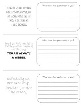 Keep the Quote Posters and Student Journal - Growing Bundle!