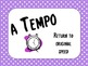 Keep the Tempo: Tempo Printable Cards for the Music Classroom