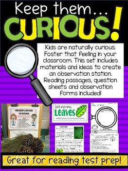 Keep them Curious! Observation Station Materials and Reading Passages
