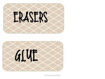 Keep your classroom organized with classroom labels!!