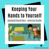 Keep your hands to yourself Animated Social Story + Activi