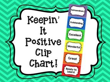 Keepin' It Positive Clip Chart FREEBIE