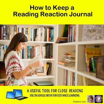 Keeping a Reading Reaction Journal Google Drive Digital Resource #TpTDigital