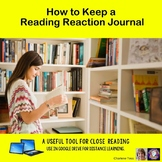 A Reading Reaction Journal Writing Exercise Google Drive Resource