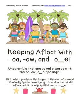 Keeping Afloat with Long O - Long Vowel O scrambled words