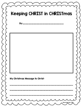Keep Christ in Christmas: Advent Writing Pages
