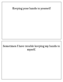Keeping Hands to Yourself Social Story (EDITABLE)