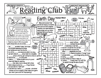 Keeping It Green (Earth Day) Two-Page Activity Set
