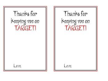 Keeping Me on Target Card {freebie}
