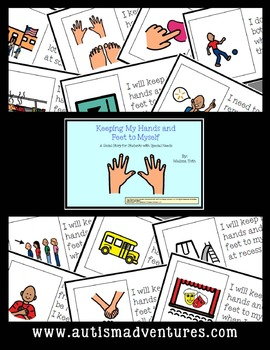 Keeping My Hands and Feet to Myself- Social Story for Student's with Autism