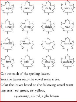 Keeping Quilt List 2 Spelling Activities (ai, ay, ee, ea, eigh words)