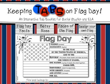 Keeping Tabs on Flag Day {Interactive Tab Book for Social Studies and ELA}