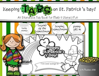 Keeping Tabs on St. Patrick's Day {Interactive Tab Book for Math & Literacy Fun}