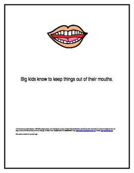 Keeping Things Out of My Mouth Social Story