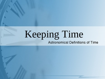 Keeping Time Presentation